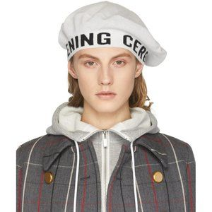 OPENING CEREMONY Spell Out knit logo beret hat W&B